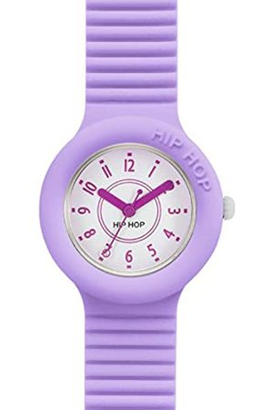 Hip Hop Watch Woman Numbers Collection dial e watchband in Silicone Lilac