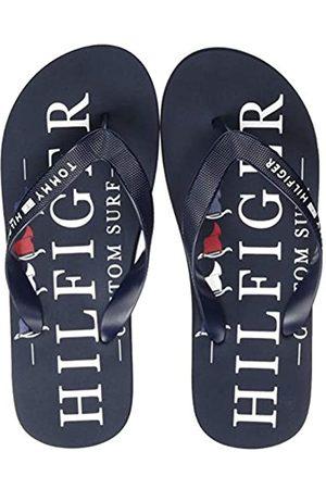 Tommy Hilfiger Men's Nautical Print Beach Sandal Open Toe, (Desert Sky Dw5)