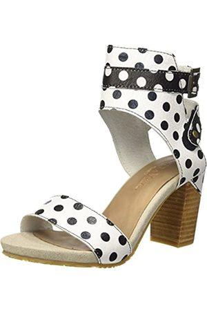 Laura Vita Women's Bernie 32 Ankle Strap Sandals, (Blanc Blanc)