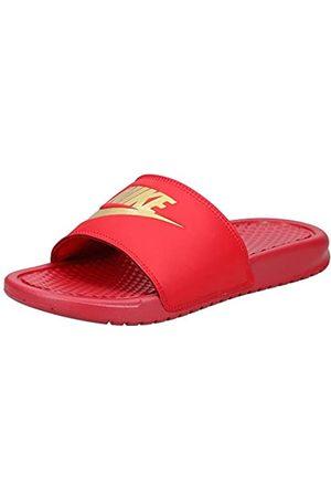 Nike Men's Benassi Just Do It Slides, Multicoloured (University /Metallic 602)