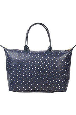 Mi-Pac Womens Weekender Canvas and Beach Tote Bag Hearts Navy &