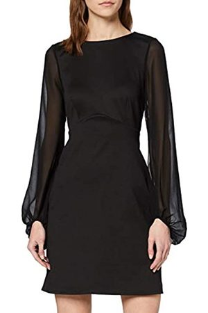 New Look Women's GO CHIFFON BELL SLV PONTI DRS Casual Dress