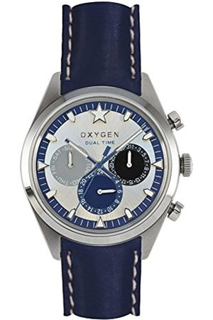 Oxygen Pacific 40 Mens Quartz Watch with Dial Analogue Display and Leather Strap EX-SDT-PAC-40-CL-NA