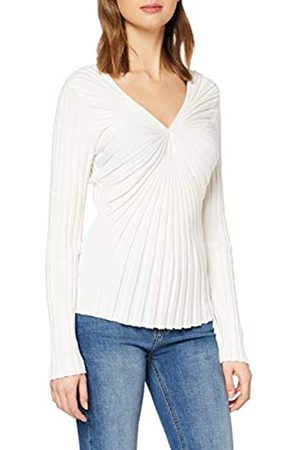 Sisley Women's Maglia Scollo V M/l Long Sleeve Top