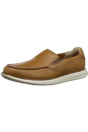 Clarks Men's Un Pilot Step Loafers, (Tan Leather Tan Leather)