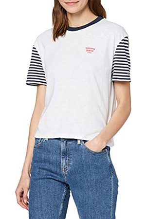 Tommy Jeans Women's TJW Striped Sleeve TEE Sports Knitwear