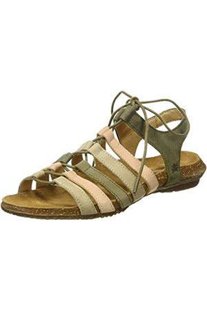 El Naturalista Women's N5069 Pleasant Wakataua Open Toe Sandals, (KAKI Mixed KAKI Mixed)