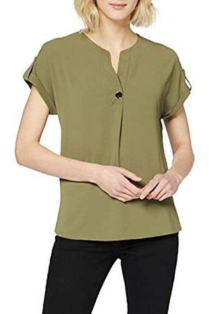 Dorothy Perkins Women's Khaki Utility Drop Shoulder Top Blouse