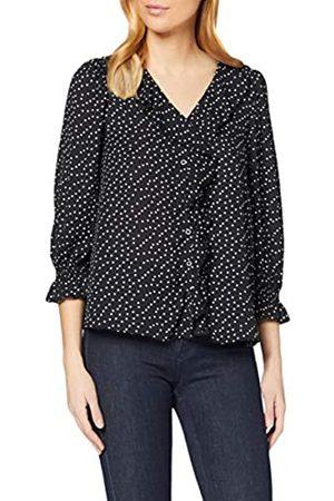 Dorothy Perkins Women's Spot Ruffle Shirt
