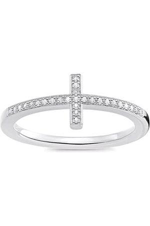 """Thomas Sabo """"Cross White Diamond Ring - Size M"""