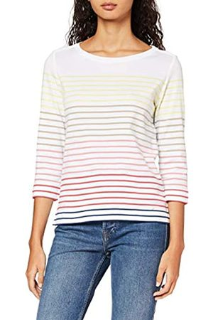 Brax Women's Colletta Cotton Multistripes Long Sleeve Top