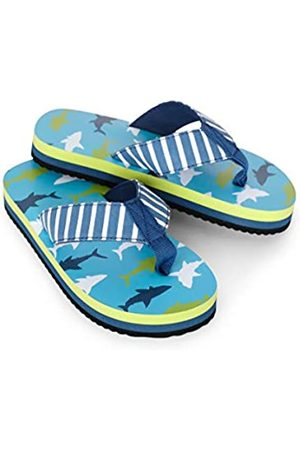 Hatley Boys' Sandals Flip Flops, (Bluegreat Shark 400)