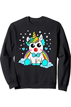 Unicorn Clown Cute Gift Boys Girls Carnival Shirts Unicorn Clown Carnival Cute Boys Girls Gift Bow Tie Outfit Sweatshirt