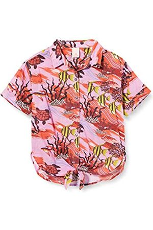 Scotch & Soda Girl's Classic Short Sleeve Hawaii Shirt with Front Knot Blouse