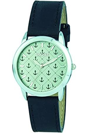 Snooz Men's Analogue Quartz Watch with Leather Strap Saa1040-27