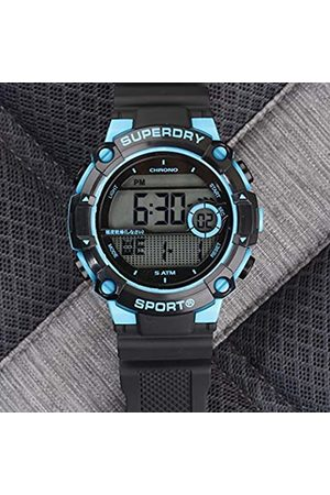 Superdry Men's Digital Quartz Watch with Rubber Strap SYG291BU