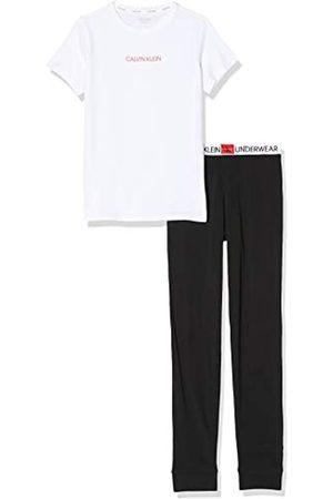 Calvin Klein Girl's Knit PJ Set (SS+Pant) Pyjama