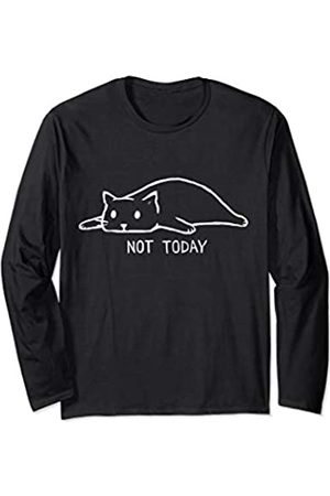 Vishtea Sorry I Cant Have Plans With My Cat Not Today Crazy Cat Lady Long Sleeve T-Shirt