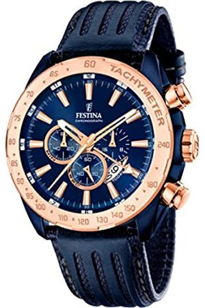 Festina Men's Quartz Watch with Dial Chronograph Display and Leather Strap F16897/1