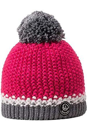Giesswein Beanie Grubenkopf Raspberry ONE - Bobble hat with Merino Wool, Unisex Winter Knitted hat, Warm hat with Fleece Lining, Winter Beanie for Ladies and Gentlemen