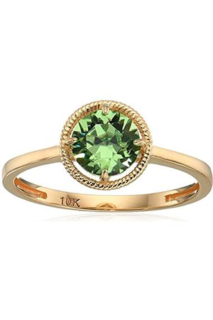 Amazon Collection 10k Gold Swarovski Crystal August Birthstone Ring