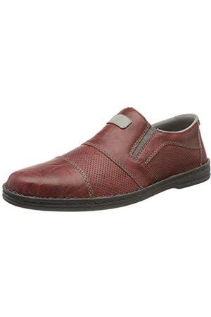 Rieker Men's Frühjahr/Sommer Loafers, (Tomato/Cement 33)