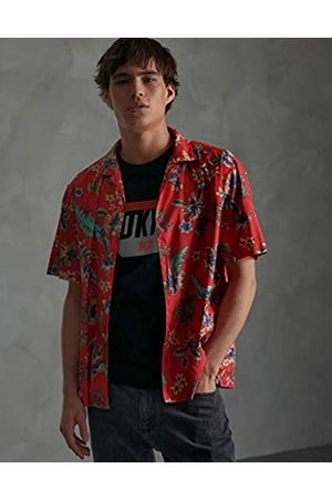 Superdry Men's Hawaiian Box S/s Shirt Casual (Vintage Tropical D5u)
