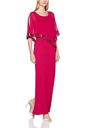 Gina Bacconi Women's Sequin Crepe and Chiffon Maxi Dress