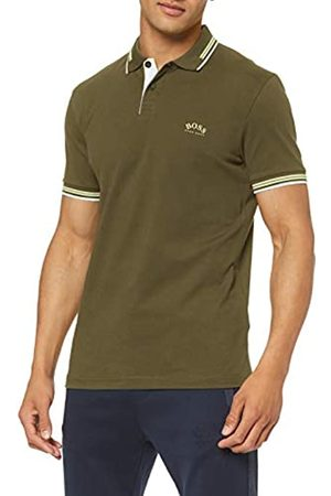 HUGO BOSS Men's Paul Curved Polo Shirt, Dark 303)