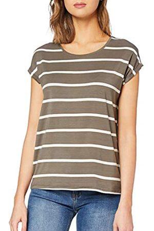 Vero Moda Women's Vmava Plain Ss Top Nemo Stripe Ga Noos T-Shirt