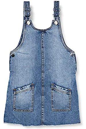 MEK Girl's Abito Salopette Jeans Dress