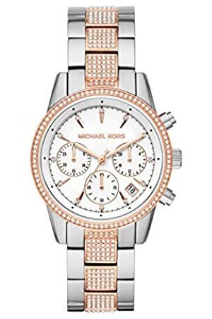 Michael Kors Womens Chronograph Quartz Watch with Stainless Steel Strap MK6651