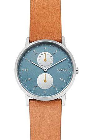 Skagen Mens Analogue Quartz Watch with Leather Strap SKW6526