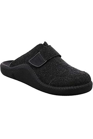 Romika Men's Mokasso 308 Open Back Slippers, (Schwarz 100 100)