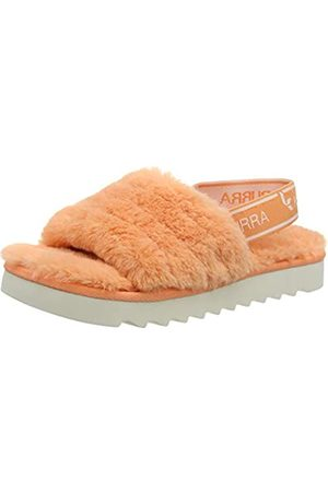 Koolaburra by UGG FUZZ'N Girls' Sandals & Flip Flop Orange (CANTALOUPE)