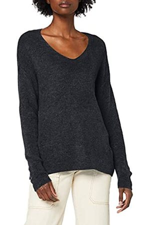 Vero Moda Women's Vmcrewlefile Ls V-Neck Blouse Color Pullover Sweater