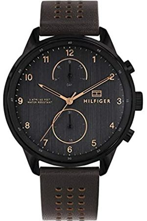 Tommy Hilfiger Mens Multi dial Quartz Watch with Leather Strap 1791577