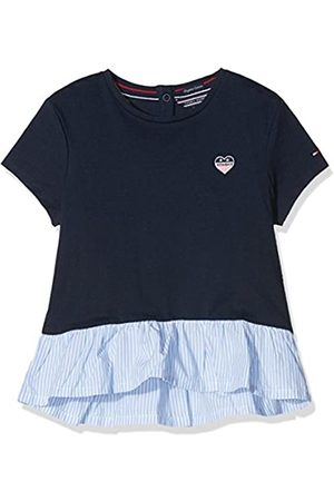 Tommy Hilfiger Girl's Combi Ruffle Hem Cn Knit S/s T-Shirt