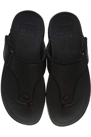 FitFlop Men's TRAKK II Toe-Thongs Flip Flops, (All 090)