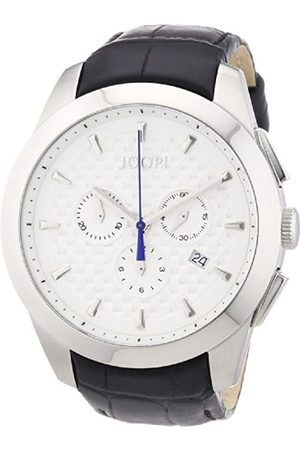 JOOP! Men Watches - Joop Legend Chrono Men's Quartz Watch with White Dial Chronograph Display and Leather Strap JP101071F05