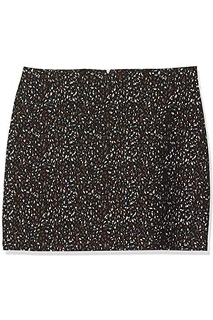 Dorothy Perkins Women's Neutral Animal Print Textured Mini Skirt