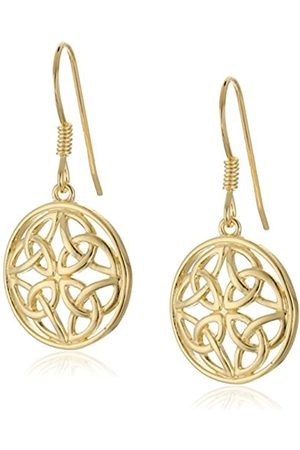 Amazon Collection 18k Plated Sterling Celtic Knot Round Drop Earrings