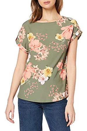 Dorothy Perkins Women's Khaki Photographic Floral Print Turn Back T-Shirt