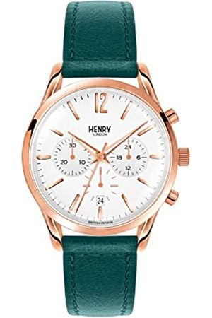 Henry London Unisex-Adult Chronograph Quartz Watch with Leather Strap HL39-CS-0144