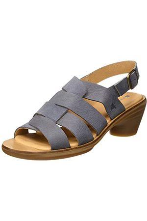El Naturalista Women's N5358 Pleasant-LUX Suede Aqua Open Toe Sandals, (Vaquero Vaquero)