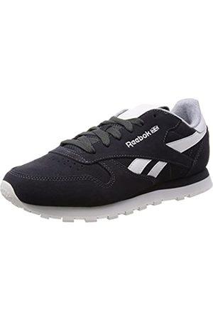 Reebok Women's's Cl Leather Suede Running Shoes, -Schwarz (Gravel/Chalk)