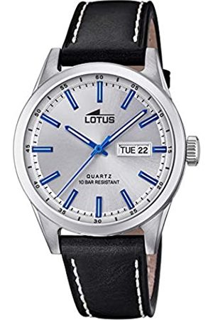 Lotus Mens Analogue Quartz Watch with Leather Strap 18671/2