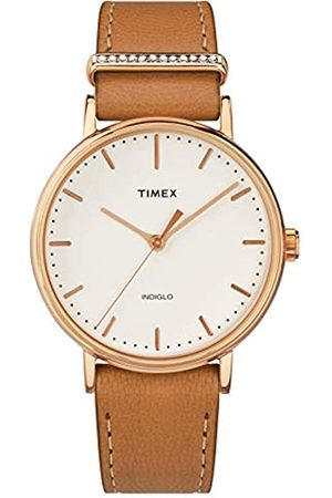 Timex Womens Analogue Classic Quartz Watch with Leather Strap TW2R70200