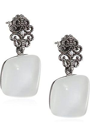 MISIS Augusta Women's Earrings 925 Sterling Silver/ Zirconia-Quadratschliff Cat OR08900B 3 CM