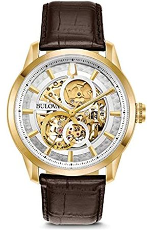 Bulova Mens Analogue Classic Automatic Watch with Leather Strap 97A138